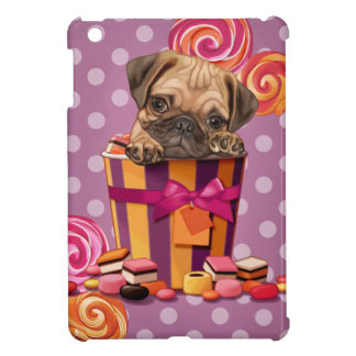 Sweet pug puppy case for the iPad mini