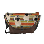 Sweet Pugs on Stripes Commuter Bags