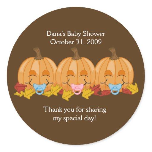 Sweet pumpkins Halloween Fall Favor Sticker