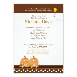 Sweet Pumpkins Mod Dot 5x7 Fall Baby Shower Invite