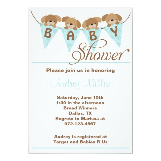 Sweet puppy baby shower invitations zazzle sweet puppy baby shower invitations filmwisefo