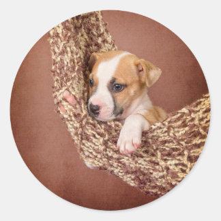 Sweet puppy classic round sticker
