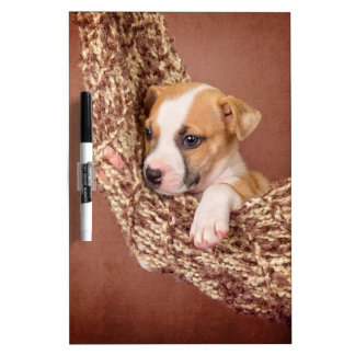 Sweet puppy dry erase white board