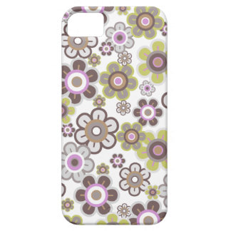 Sweet Purple Candy Daisies Flowers Girly Pattern iPhone SE/5/5s Case