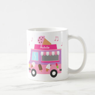 Sweet Purple Pink Ice Cream Truck For Girls Classic White Coffee Mug