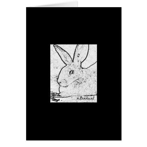 Sweet Rabbit Sketch Card