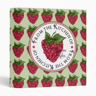 Sweet Raspberries Recipe Binder
