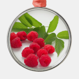 Sweet raspberry isolated ON white background Metal Ornament