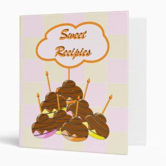 Sweet recepies 3 ring binder