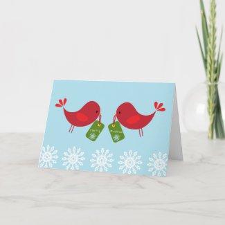 Sweet Red Birds - Christmas Card card