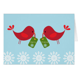 Sweet Red Birds - Christmas Card
