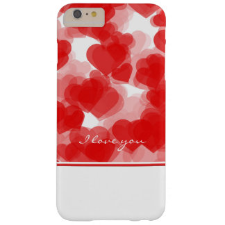 sweet red hearts with declaration of love barely there iPhone 6 plus case