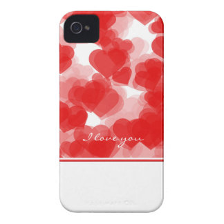 sweet red hearts with declaration of love iPhone 4 cover