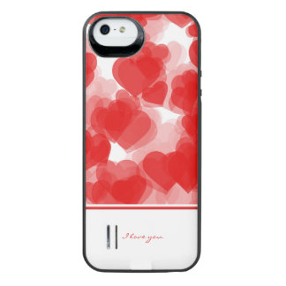 sweet red hearts with declaration of love iPhone SE/5/5s battery case