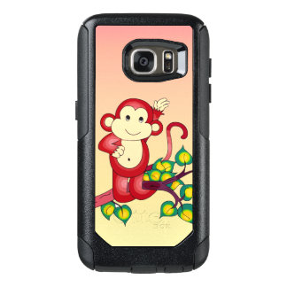 Sweet Red Monkey Animal OtterBox Galaxy S7 Case