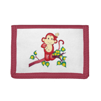Sweet Red Monkey Animal Wallet