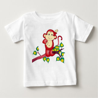 Sweet Red Monkey Baby Shirt