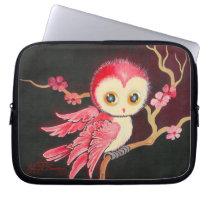 Sweet Red Owl Laptop Sleeve