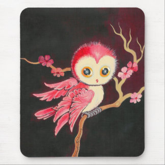 Sweet Red Owl Mouse Pad