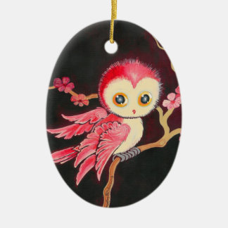 Sweet Red Owl Christmas Tree Ornaments
