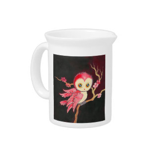 Sweet Red Owl Beverage Pitcher