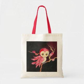 Sweet Red Owl Tote Bag