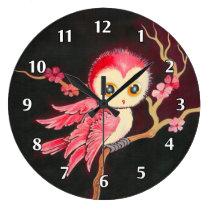Sweet Red Owl Wall Clocks