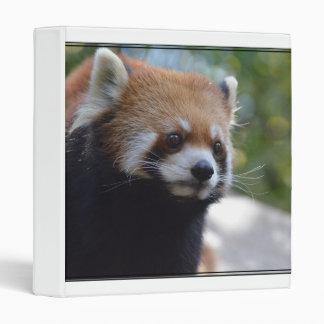 Sweet Red Panda Bear Binder