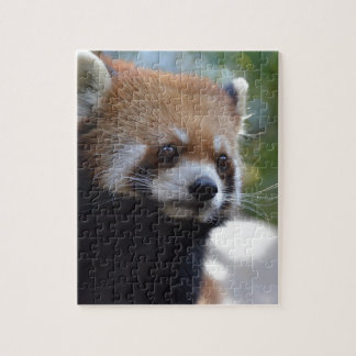 Sweet Red Panda Bear Jigsaw Puzzle