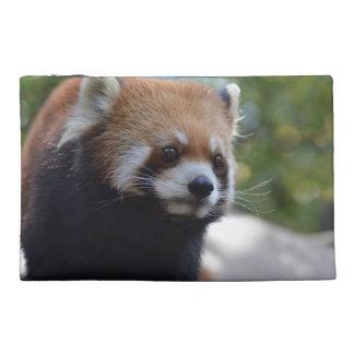 Sweet Red Panda Bear Travel Accessory Bags