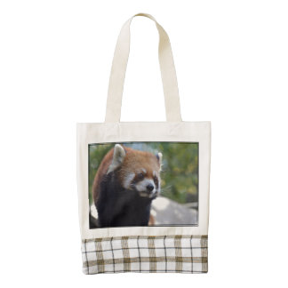 Sweet Red Panda Bear Zazzle HEART Tote Bag