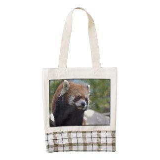 Sweet Red Panda Bear Zazzle HEART Tote Bag