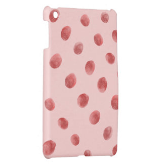 Sweet Red Polka Dots - Pick a Background Color Cover For The iPad Mini