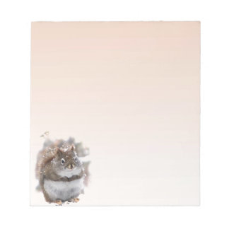 Sweet Red Squirrel Note Pad