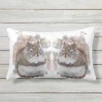 Sweet Red Squirrels Animal Outdoor Pillow