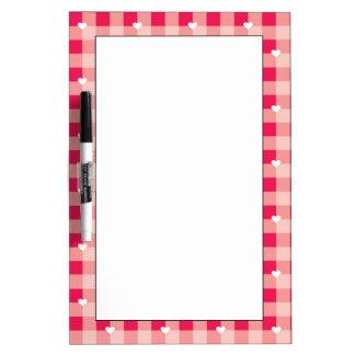 Sweet Red Valentine's background Dry Erase Board