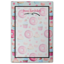 Sweet Reminders Donut Macaron And Cupcake Pattern Post-it Notes