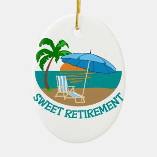 Sweet Retirement Ceramic Ornament