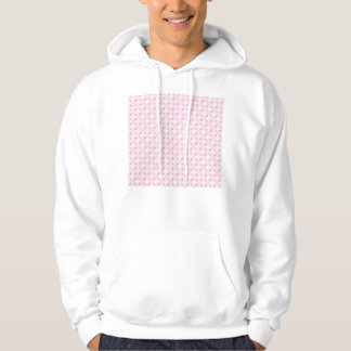 Sweet retro pastel pink pattern hoodie