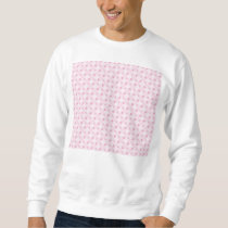 Sweet retro pastel pink pattern sweatshirt