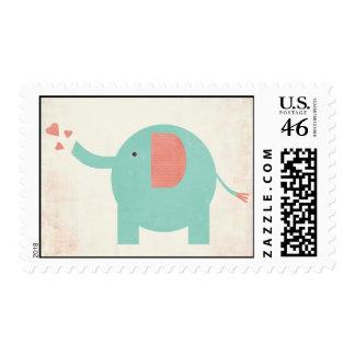 Sweet Retro Unisex Elephant Baby Postage