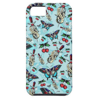 Sweet Revenge. Tattoo style drawing pattern BLUE. iPhone 5 Cases