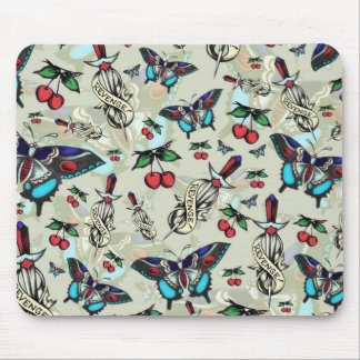 Sweet Revenge. Tattoo style drawing pattern. Mouse Pad