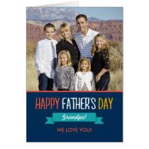 Sweet Ribbon Fathers Day Photo Card