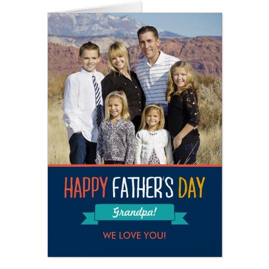 Sweet Ribbon Fathers Day Photo Card