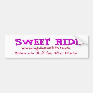 Sweet Ride Bumper Sticker Car Bumper Sticker