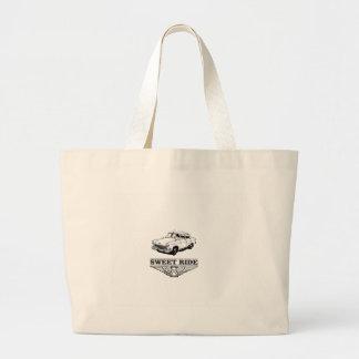 sweet ride car boy large tote bag