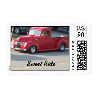 Sweet Ride Red Old Classic Postage