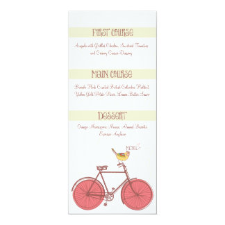 Sweet Ride Wedding Menu Card