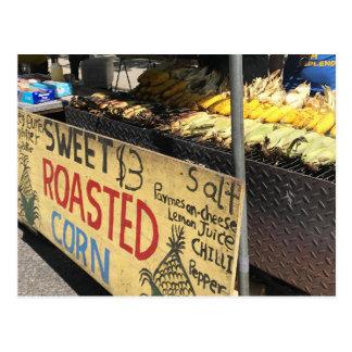 Sweet Roasted Corn, New York City, NYC Street Fair Postcard